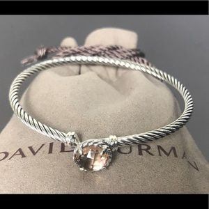 David Yurman 3mm Chatelaine Bracelet Morganite